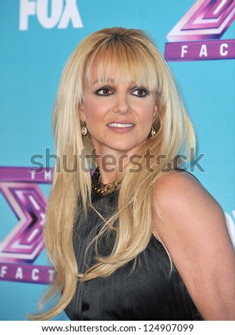 "LOS ANGELES, CA - DECEMBER 17, 2012: Britney Spears at the press conference for the season finale of Fox's ""The X Factor"" at CBS Televison City, Los Angeles."