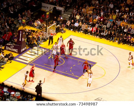 LOS ANGELES, CA - DECEMBER 25: Derek Fisher shoots three point shot during Christmas Day NBA Game L.A. Lakers versus the Miami Heat at Staples Center. on December 25, 2010 in Los Angeles