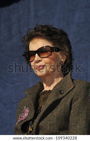 LOS ANGELES, CA - DECEMBER 8, 2009: French actress Leslie Caron was honored today with the 2,394th star on the Hollywood Walk of Fame.
