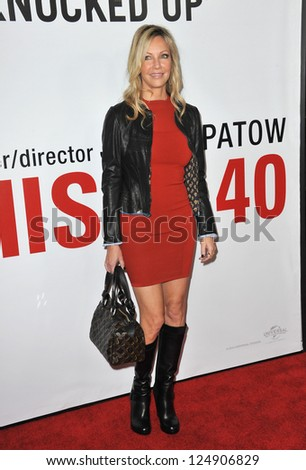 "LOS ANGELES, CA - DECEMBER 12, 2012: Heather Locklear at the world premiere of ""This Is 40"" at Grauman's Chinese Theatre, Hollywood. - stock photo"