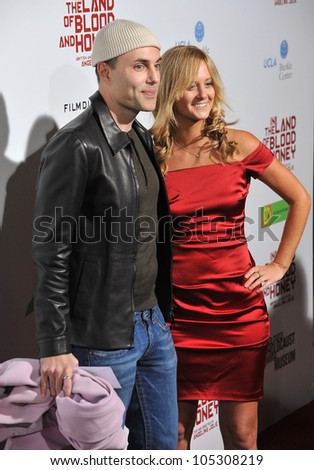 "LOS ANGELES, CA - DECEMBER 8, 2011: James Haven (brother of Angelina Jolie) at the premiere of ""In The Land of Blood and Honey"" at the ArcLight Theatre, Hollywood. December 8, 2011  Los Angeles, CA"
