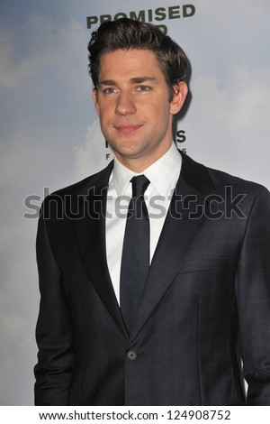 "LOS ANGELES, CA - DECEMBER 6, 2012: John Krasinski at the Los Angeles premiere of his new movie ""Promised Land"" at the Directors Guild Theatre."