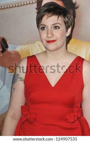 "LOS ANGELES, CA - DECEMBER 12, 2012: Lena Dunham at the world premiere of ""This Is 40"" at Grauman's Chinese Theatre, Hollywood."
