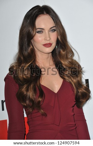 "LOS ANGELES, CA - DECEMBER 12, 2012: Megan Fox at the world premiere of her new movie ""This Is 40"" at Grauman's Chinese Theatre, Hollywood. - stock photo"