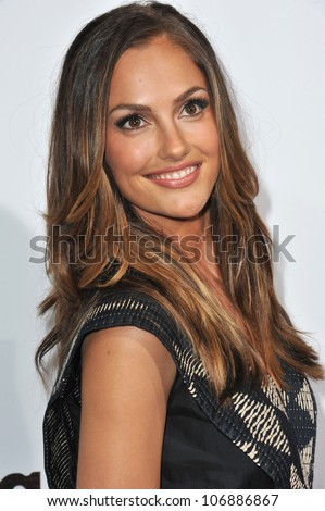 "LOS ANGELES, CA - DECEMBER 14, 2010: Minka Kelly at the premiere of ""Country Strong"" at the Academy of Motion Picture Arts & Sciences Theatre, Beverly Hills. December 14, 2010  Los Angeles, CA"