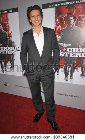 "LOS ANGELES, CA - DECEMBER 14, 2009: Producer Lawrence Bender at the DVD launch of his movie ""Inglourious Basterds"" at the New Beverly Cinema, Los Angeles. - stock photo"