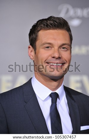 "LOS ANGELES, CA - DECEMBER 5, 2011: Ryan Seacrest at the world premiere of his new movie ""New Year's Eve"" at Grauman's Chinese Theatre, Hollywood. December 5, 2011  Los Angeles, CA"