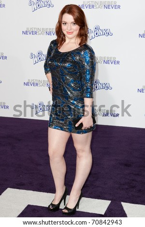 LOS ANGELES, CA - FEB 8: Actress Jennifer Stone arrives at the Paramount Pictures Justin Bieber: Never Say Never premiere at Nokia Theater L.A. Live on February 8, 2011 in Los Angeles, California.