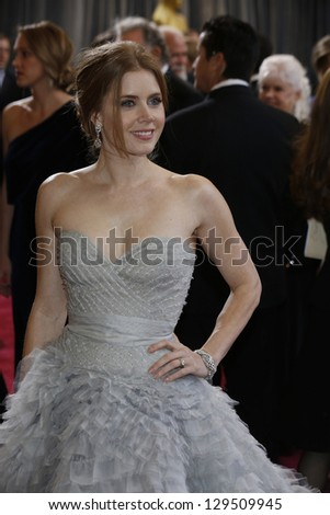 LOS ANGELES, CA - FEB 24: Amy Adams at the 85th Annual Academy Awards on February 24, 2013 in Los Angeles, California