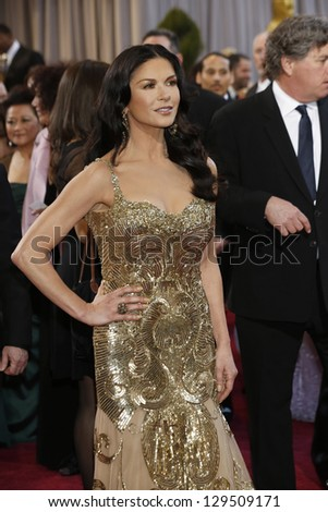 LOS ANGELES, CA - FEB 24: Catherine Zeta Jones at the 85th Annual Academy Awards on February 24, 2013 in Los Angeles, California