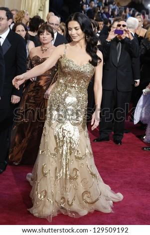 LOS ANGELES, CA - FEB 24: Catherine Zeta Jones at the 85th Annual Academy Awards on February 24, 2013 in Los Angeles, California