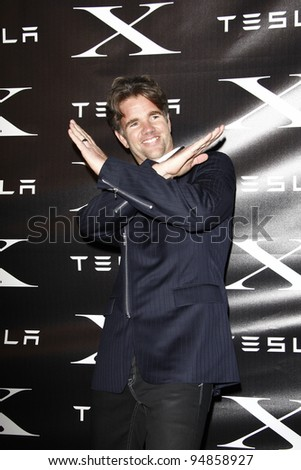 LOS ANGELES, CA - FEB 9: Franz von Holzhausen at the Tesla Worldwide Debut of Model X on February 9, 2012 in Hawthorne, Los Angeles, California