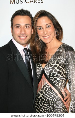 LOS ANGELES, CA - FEB 9: Howie Dorough, Leigh Boniello  at the 2007 MusiCares Person Of The Year at the LA Convention Center on February 9, 2007 in Los Angeles, California - stock photo