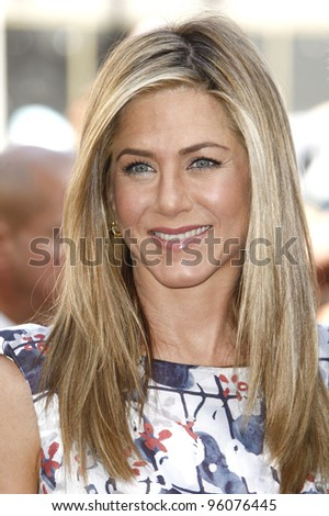 LOS ANGELES, CA - FEB 22: Jennifer Aniston at a ceremony where Jennifer Aniston is honored with a star on the Hollywood Walk of Fame on February 22, 2012 in Los Angeles, California - stock photo