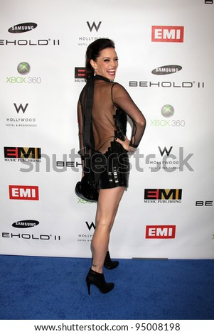 LOS ANGELES, CA - FEB 13: Jessica Sutta at the EMI GRAMMY After-Party at Milk Studios on February 13, 2011 in Los Angeles, California