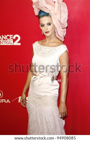LOS ANGELES, CA - FEB 10: Katy Perry at the 2012 MusiCares Person of the Year Tribute To Paul McCartney at the LA Convention Center on February 10, 2012 in Los Angeles, California - stock photo
