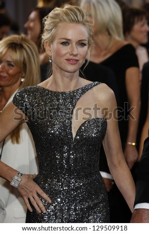 LOS ANGELES, CA - FEB 24: Naomi Watts at the 85th Annual Academy Awards on February 24, 2013 in Los Angeles, California