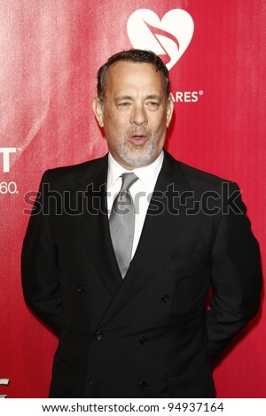 LOS ANGELES, CA - FEB 10: Tom Hanks at the 2012 MusiCares Person of the Year Tribute To Paul McCartney at the LA Convention Center on February 10, 2012 in Los Angeles, California