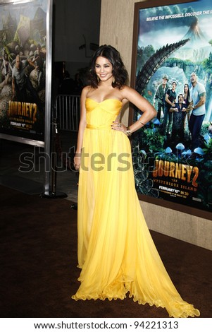 LOS ANGELES, CA - FEB 2: Vanessa Hudgens at the 'Journey 2: The Mysterious Island' Premiere at Grauman's Chinese Theater on February 2, 2012 in Los Angeles, California