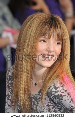 """LOS ANGELES, CA - FEBRUARY 24, 2009: Bella Thorne at the world premiere of """"Jonas Brothers: The 3D Concert Experience"""" at the El Capitan Theatre, Hollywood. - stock photo"""