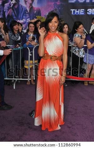 "LOS ANGELES, CA - FEBRUARY 24, 2009: Dania Ramirez at the world premiere of ""Jonas Brothers: The 3D Concert Experience"" at the El Capitan Theatre, Hollywood."