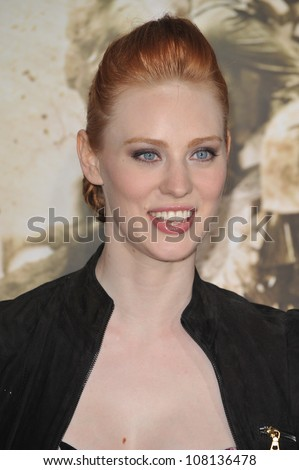 """LOS ANGELES, CA - FEBRUARY 24, 2010: Deborah Ann Woll at the premiere of HBO miniseries """"The Pacific"""" at Grauman's Chinese Theatre, Hollywood."""