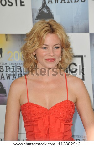 LOS ANGELES, CA - FEBRUARY 21, 2009: Elizabeth Banks at the Film Independent Spirit Awards on the beach at Santa Monica