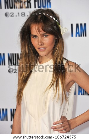 """LOS ANGELES, CA - FEBRUARY 9, 2011: Isabel Lucas at the world premiere of """"I Am Number Four"""" at the Mann Village Theatre, Westwood. February 9, 2011  Los Angeles, CA"""