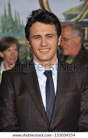 "LOS ANGELES, CA - FEBRUARY 13, 2013: James Franco at the world premiere of his movie ""Oz: The Great and Powerful"" at the El Capitan Theatre, Hollywood."