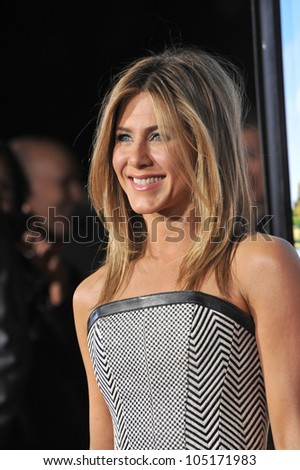 "LOS ANGELES, CA - FEBRUARY 16, 2012: Jennifer Aniston at the world premiere of her new movie ""Wanderlust"" at the Mann Village Theatre, Westwood.  February 16, 2012  Los Angeles, CA"