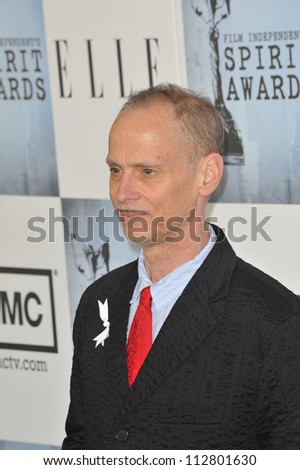 LOS ANGELES, CA - FEBRUARY 21, 2009: John Waters at the Film Independent Spirit Awards on the beach at Santa Monica