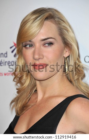 LOS ANGELES, CA - FEBRUARY 19, 2009: Kate Winslet at the US-Ireland Alliance Oscar Wilde Gala at the Ebell Club, Los Angeles.