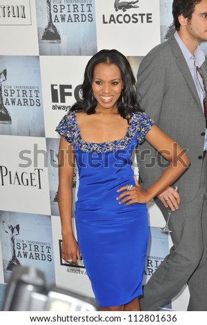LOS ANGELES, CA - FEBRUARY 21, 2009: Kerry Washington at the Film Independent Spirit Awards on the beach at Santa Monica