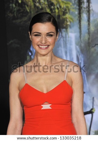 "LOS ANGELES, CA - FEBRUARY 13, 2013: Rachel Weisz at the world premiere of her movie ""Oz: The Great and Powerful"" at the El Capitan Theatre, Hollywood."