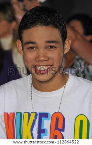 """LOS ANGELES, CA - FEBRUARY 24, 2009: Roshon Fegan at the world premiere of """"Jonas Brothers: The 3D Concert Experience"""" at the El Capitan Theatre, Hollywood."""