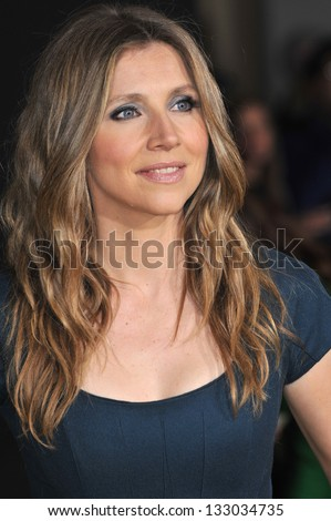 "LOS ANGELES, CA - FEBRUARY 13, 2013: Sarah Chalke at the world premiere of Disney's ""Oz: The Great and Powerful"" at the El Capitan Theatre, Hollywood."