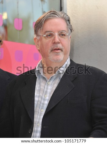 "LOS ANGELES, CA - FEBRUARY 14, 2012: ""The Simpsons"" creator Matt Groening on Hollywood Boulevard where he was honored with a star on the Hollywood Walk of Fame. February 14, 2012  Los Angeles, CA"