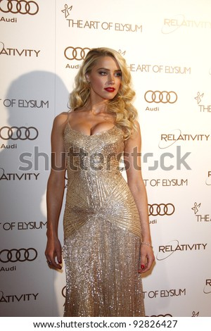 LOS ANGELES, CA - JAN 14: Amber Heard at the 2012 Art of Elysium Heaven Gala at Union Station on January 14, 2012 in Los Angeles, California