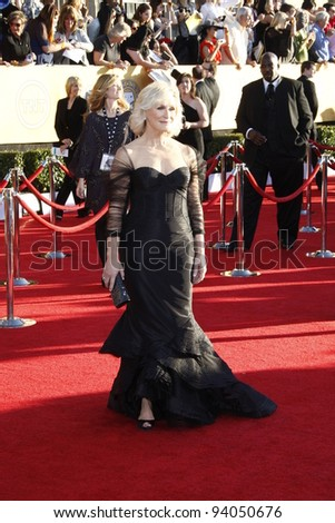 LOS ANGELES, CA - JAN 29: Glenn Close at the 18th annual Screen Actor Guild Awards at the Shrine Auditorium on January 29, 2012 in Los Angeles, California