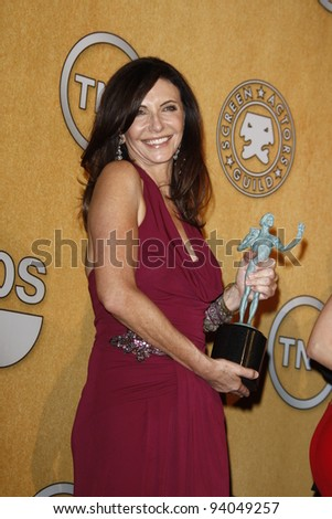 LOS ANGELES, CA - JAN 29: Mary Steenburgen in the press room at the 18th annual Screen Actor Guild Awards at the Shrine Auditorium on January 29, 2012 in Los Angeles, California