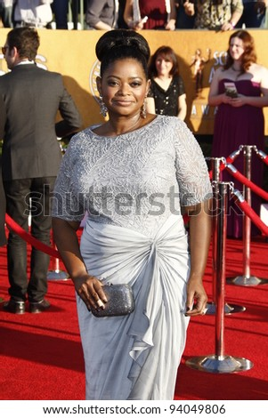 LOS ANGELES, CA - JAN 29: Octavia Spencer at the 18th annual Screen Actor Guild Awards at theShrine Auditorium on January 29, 2012 in Los Angeles, California
