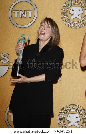 LOS ANGELES, CA - JAN 29: Sissy Spacek in the press room at the 18th annual Screen Actor Guild Awards at the Shrine Auditorium on January 29, 2012 in Los Angeles, California