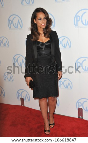 LOS ANGELES, CA - JANUARY 21, 2012: Alicia Keys at the 23rd Annual Producers Guild Awards at the Beverly Hilton Hotel. January 21, 2012  Los Angeles, CA