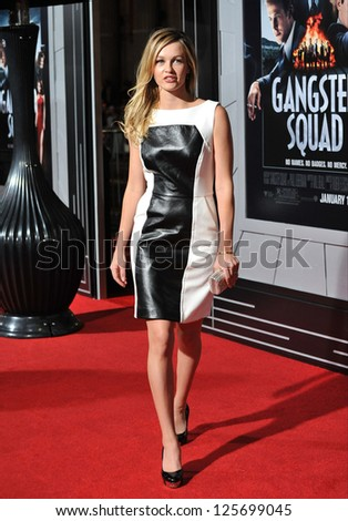 "LOS ANGELES, CA - JANUARY 7, 2013: Amber Chylders at the world premiere of her movie ""Gangster Squad"" at Grauman's Chinese Theatre, Hollywood."