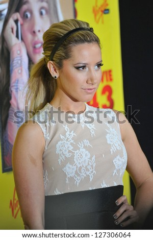 "LOS ANGELES, CA - JANUARY 23, 2013: Ashley Tisdale at the Los Angeles premiere of ""Movie 43"" at Grauman's Chinese Theatre, Hollywood."