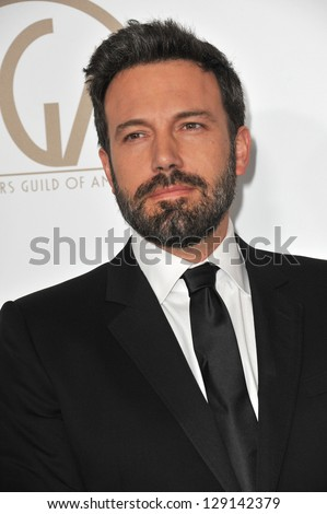 LOS ANGELES, CA - JANUARY 26, 2013: Ben Affleck at the 2013 Producers Guild Awards at the Beverly Hilton Hotel.
