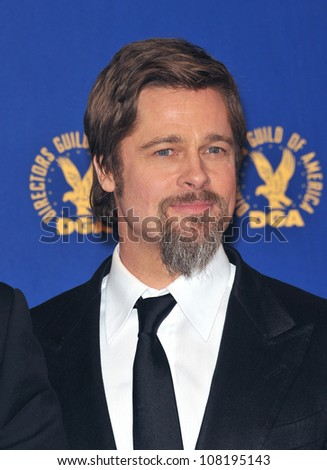 LOS ANGELES, CA - JANUARY 30, 2010: Brad Pitt at the 62nd Annual Directors Guild of America Awards at the Hyatt Century Plaza Hotel.