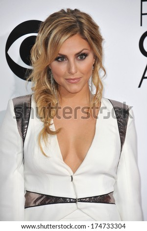 LOS ANGELES, CA - JANUARY 8, 2014: Cassie Scerbo at the 2014 People's Choice Awards at the Nokia Theatre, LA Live.
