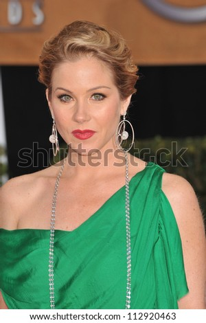 LOS ANGELES, CA - JANUARY 25, 2009: Christina Applegate at the 15th Annual Screen Actors Guild Awards at the Shrine Auditorium, Los Angeles.
