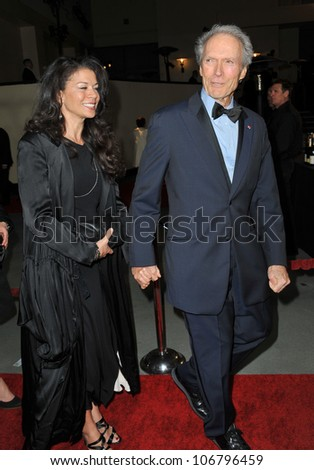 LOS ANGELES, CA - JANUARY 29, 2011: Clint Eastwood & wife Dina Ruiz at the 63rd Annual Directors Guild of America Awards at Hollywood & Highland. January 29, 2011  Los Angeles, CA